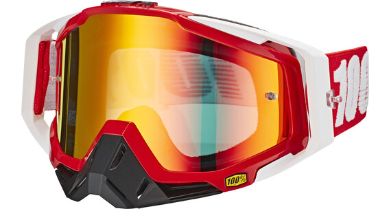 100% Racecraft Goggle fire red/mirror red anti fog